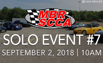 MBR SCCA Event #7 2018