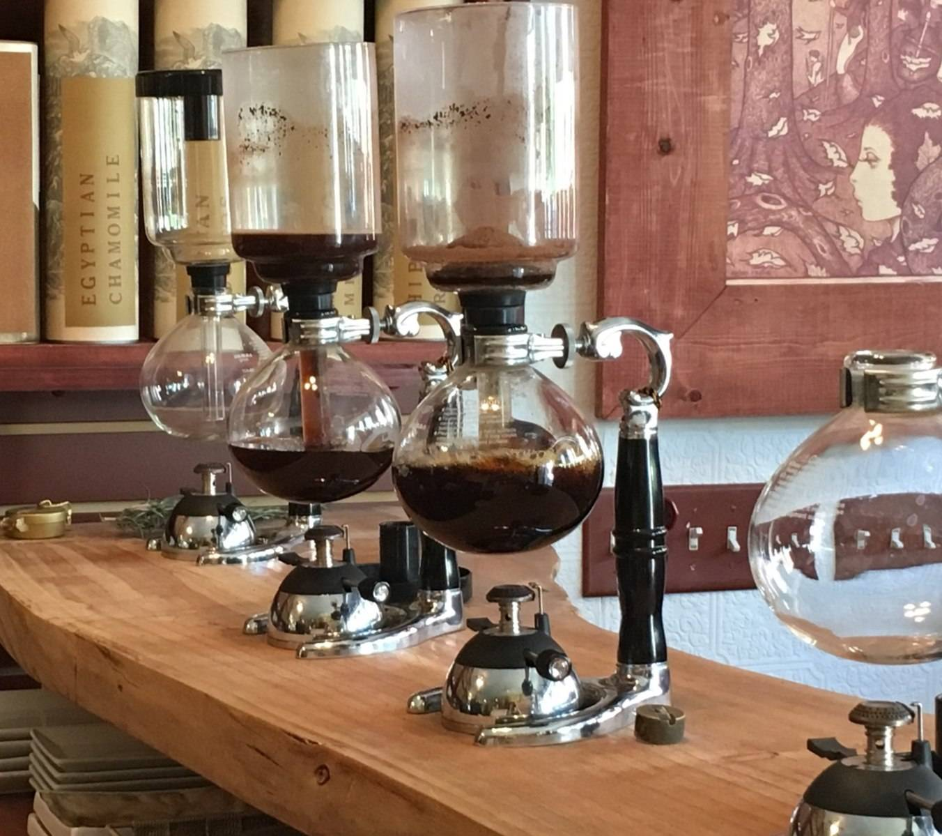 Early 18th century coffee brewing devices