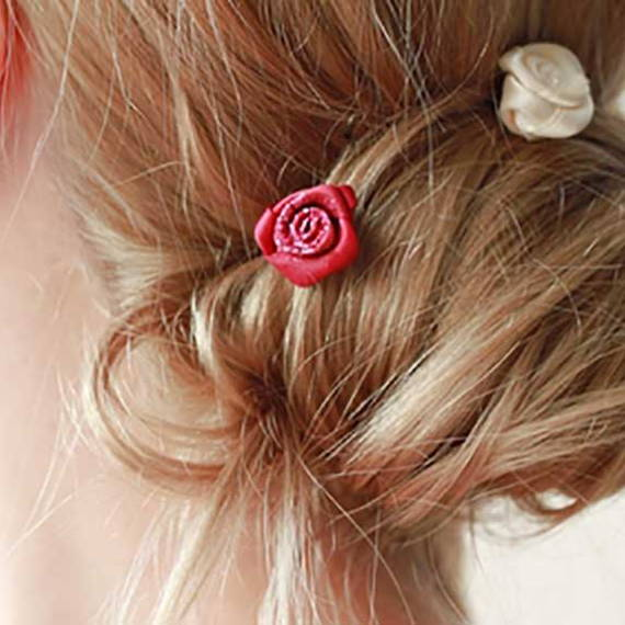 bun with hair pin accessories