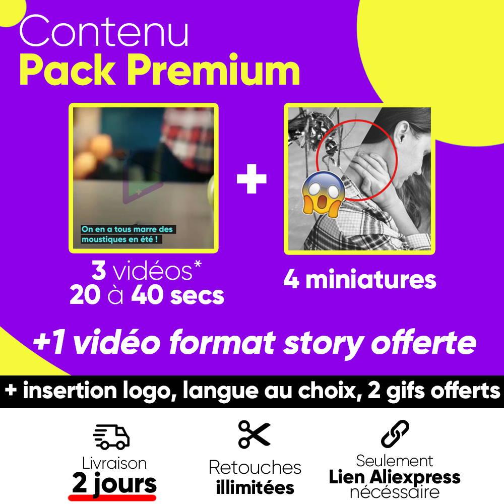 contenu pack premium vidéo dropshipping