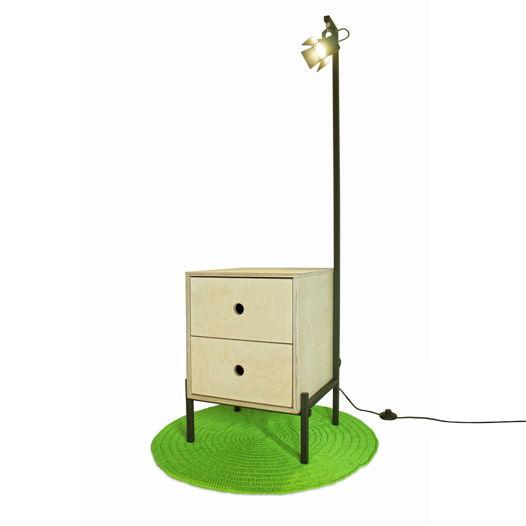 ЛОФТ Тумба прикроватная со светильником