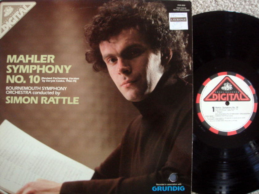 EMI Angel Digital / RATTLE,  - Mahler Symphony No.10,  NM, 2LP Set!
