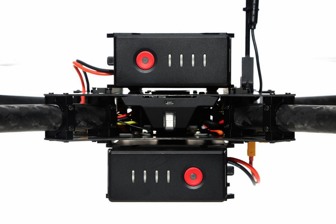 DJI Matrice 100 Dual Battery Setup