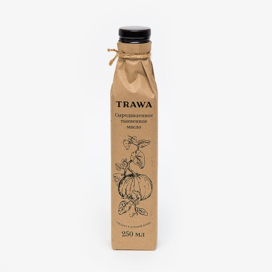 Сыродавленное тыквенное масло TRAWA, 250 мл