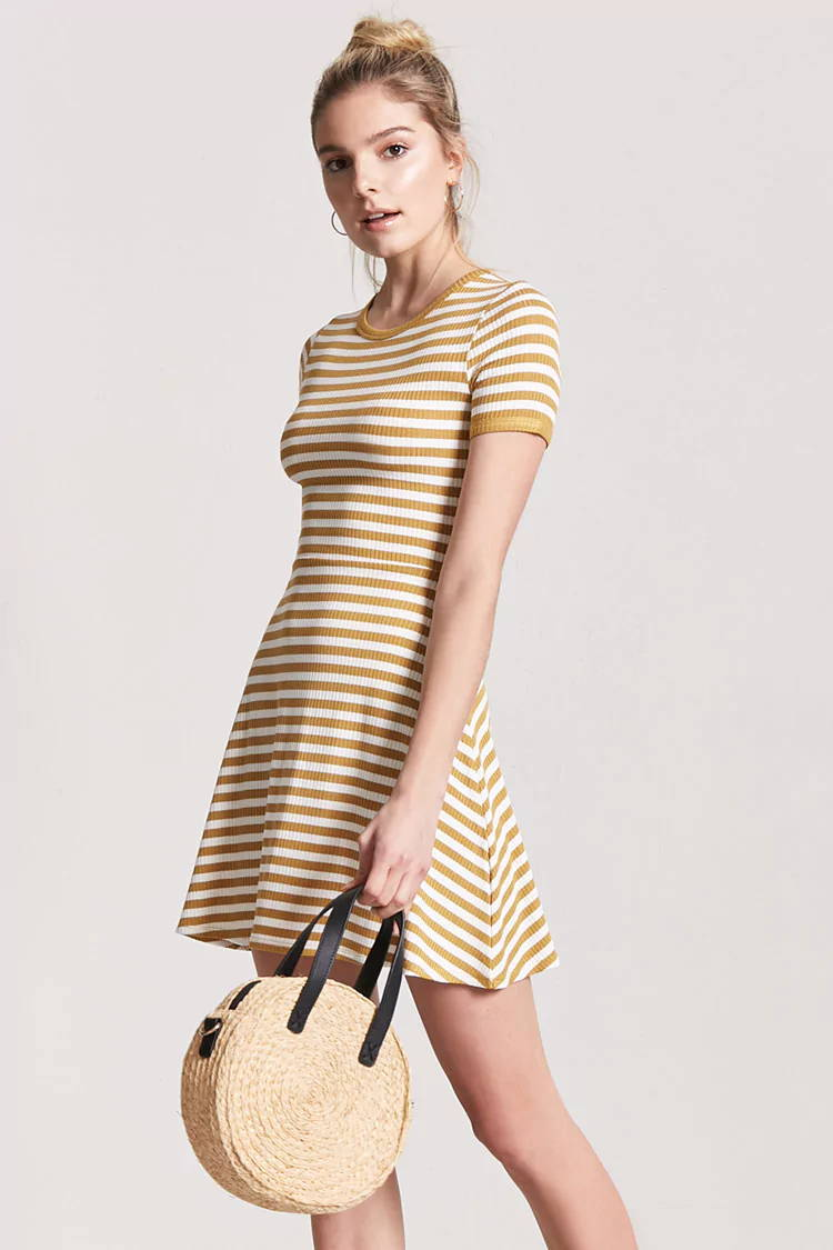 striped yellow spring dress from forever 21