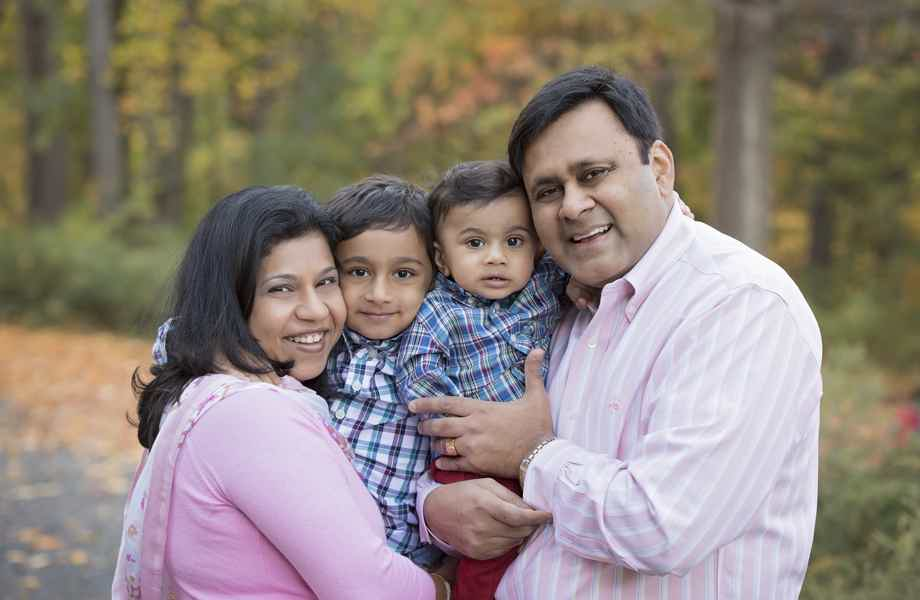 Franchise Owners of Primrose School Bijal and Manish Shah with their family