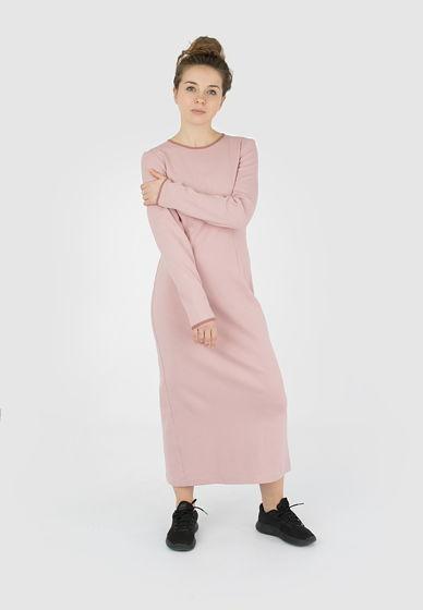 Платье-футляр с разрезом сзади