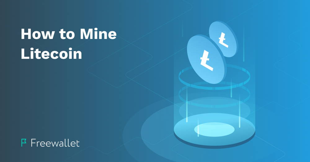 Two big Litecoin logos - How to mine Litecoin blog cover