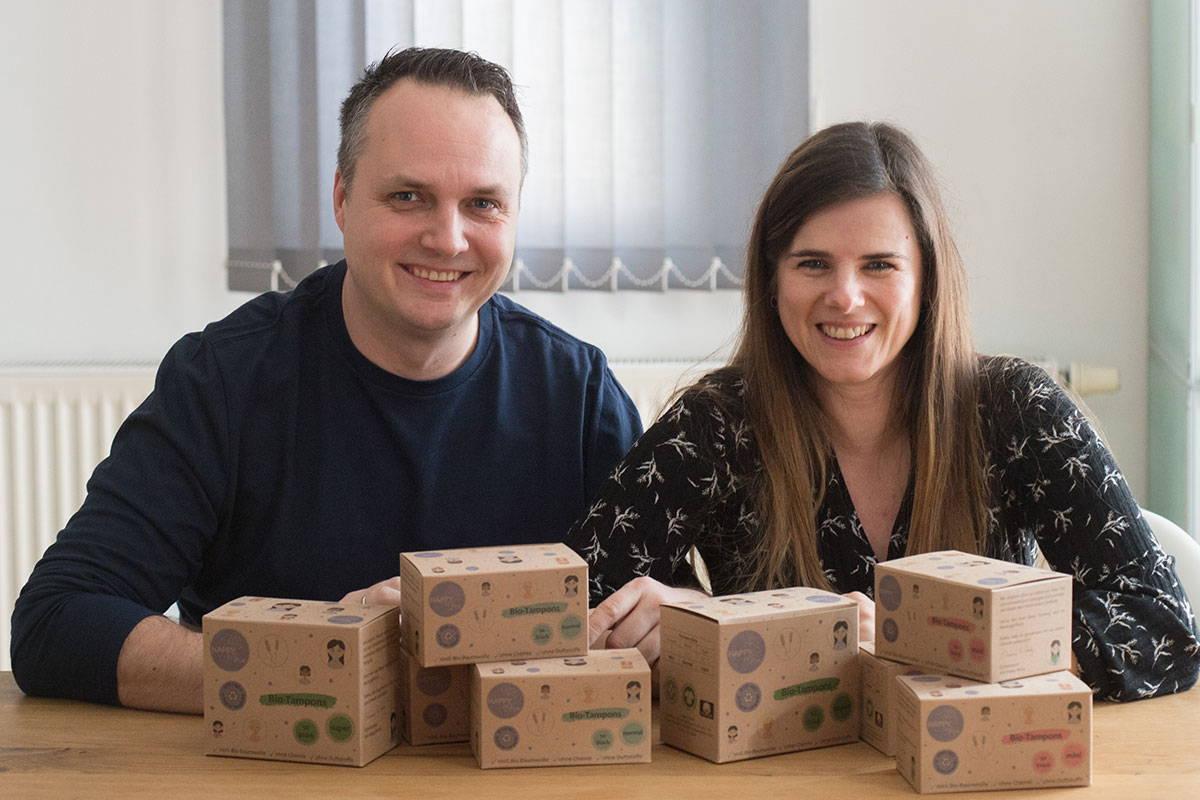 Die Happy Mona Gründer Simone und Charly