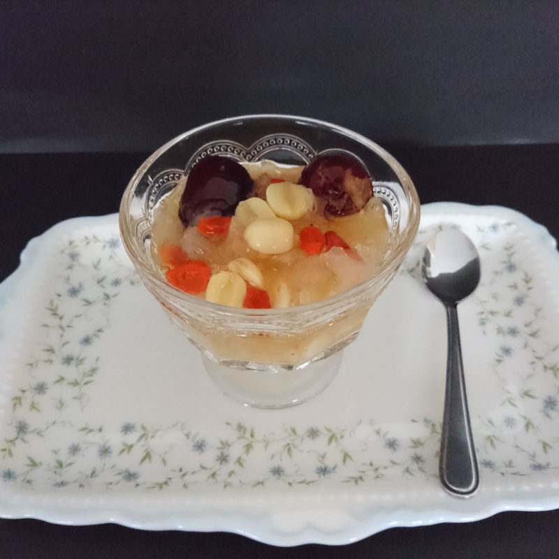 Date: 3 Dec 2019 (Tue) 19th Dessert: Chinese Secret - Anti Aging Soup/White Fungus Soup with Goji Berries, Lotus Seeds, Red Dates, and Rock Sugar [129] [124.7%] [Score: 10.0]