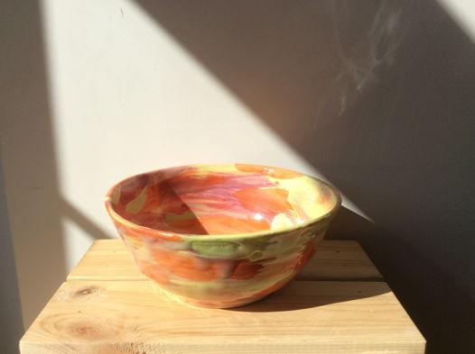Глубокая керамичкая тарелка