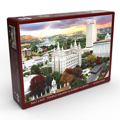 LDS art puzzle of Salt Lake Temple Square.