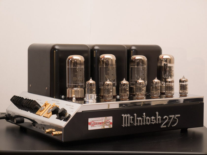 McIntosh MC275 Tube Power Amplifier Gordon J Gow Commemorative
