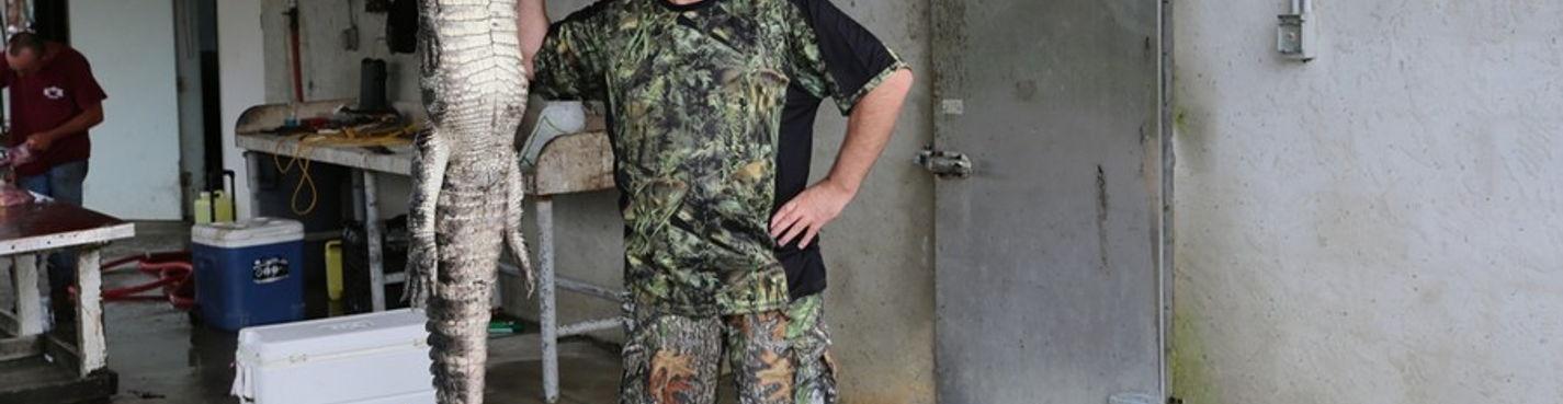 Охота на Аллигатора во Флориде с русским гидом