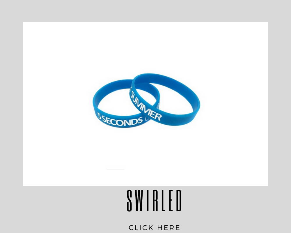 Corporate Custom Swirled Wristband
