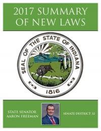 2017 Summary of New Laws - Sen. Freeman