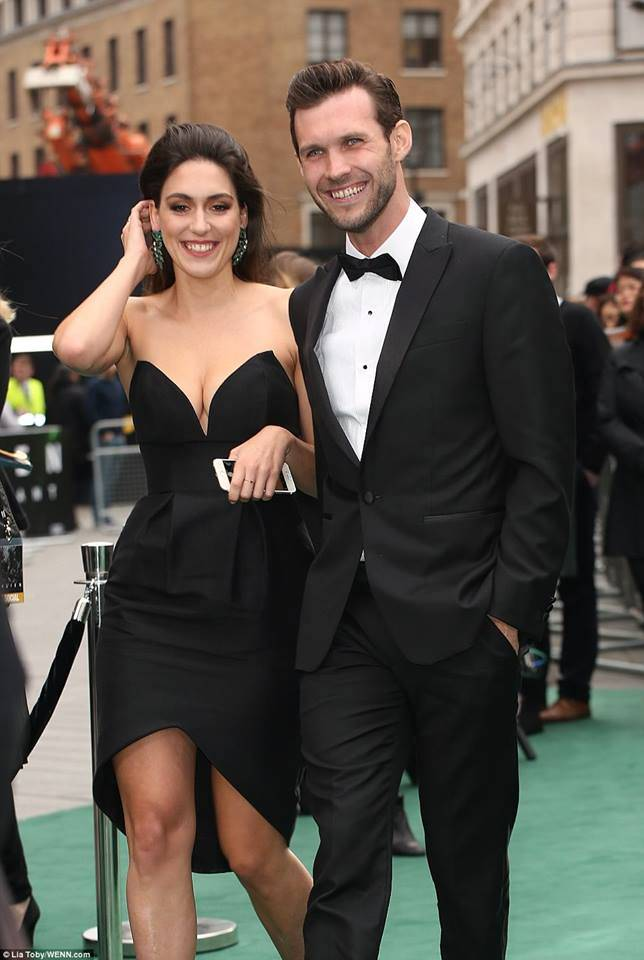 Ben Rigby and his partner at the premiere of Alien: Covenant in London