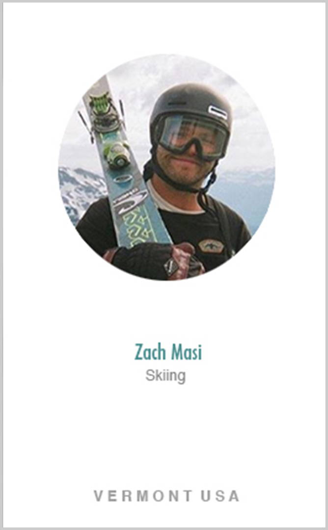Skier Zach Masi