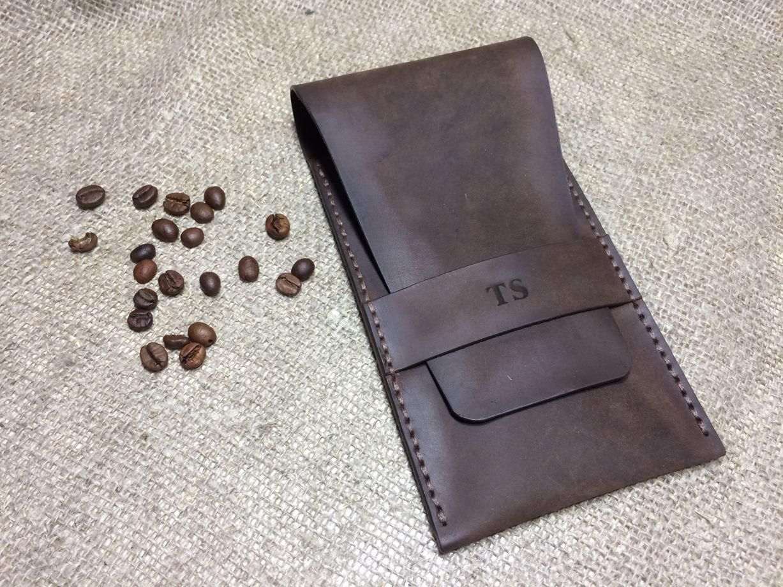 Пенал кожаный на 5-6 ручек ручной работы