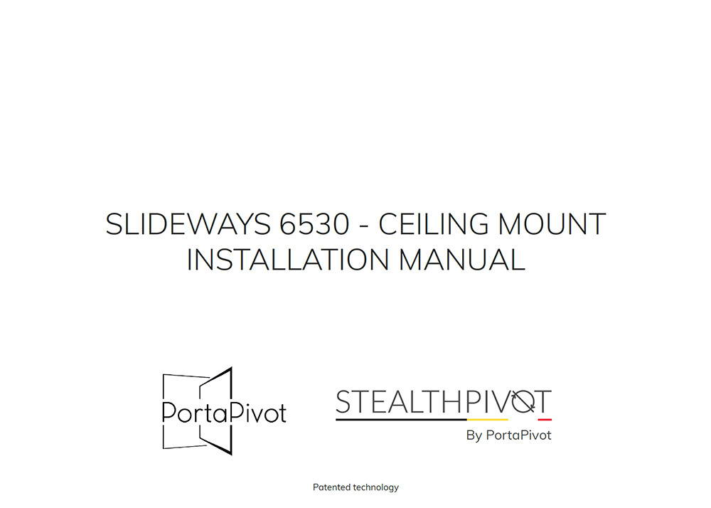 Slideways 6530 ceiling mount installation manual