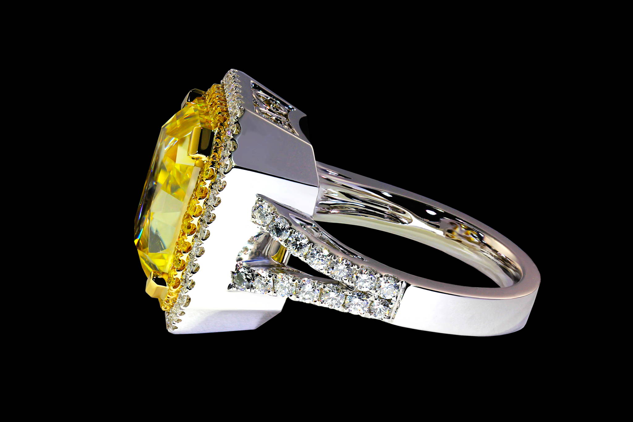 Helios`s Diamond Ring side view