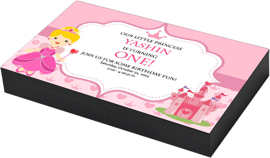 Princess & Castle Birthday invitation