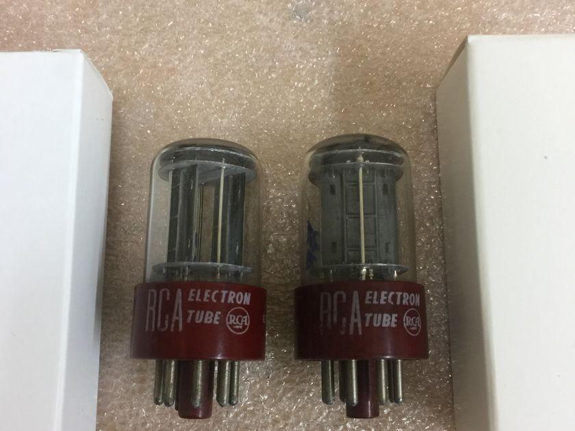 NOS RCA 5692 Red Base matching pair premium 6SN7GT