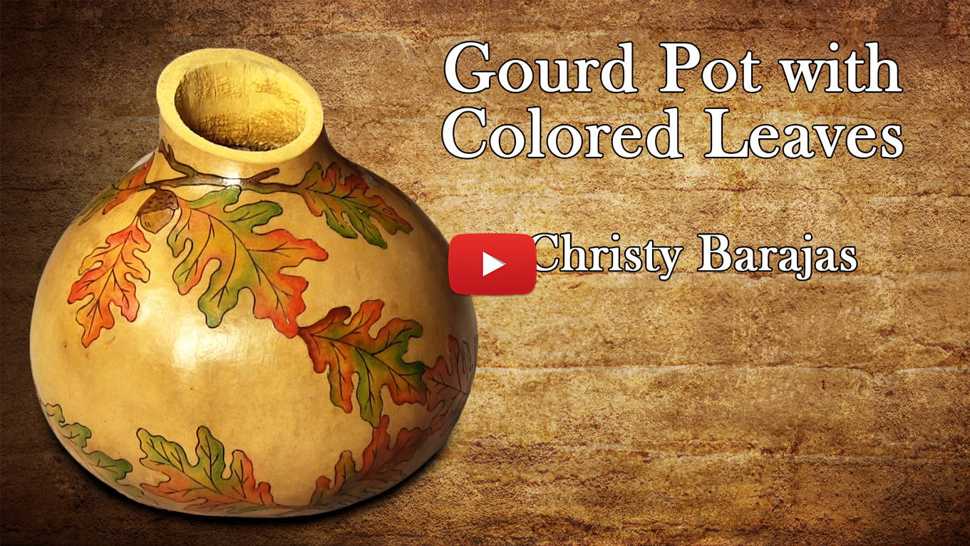 Watch How to Create a Gourd Pot with Colored Leaves