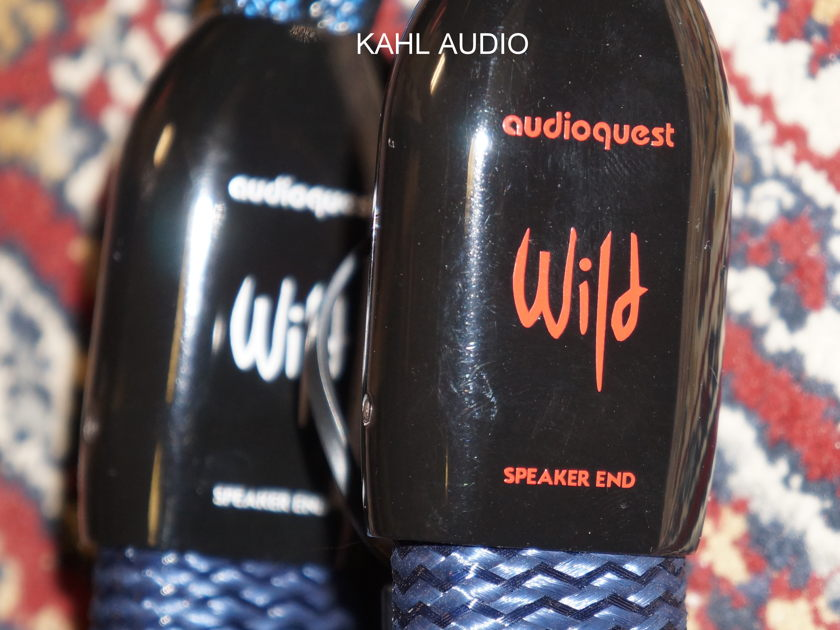 Audioquest Wild Wood speaker cables. 5ft pair with spades. Demo. $11,000 MSRP