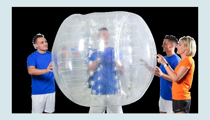 bubblefootball gruppegemischt personimbumperz blau