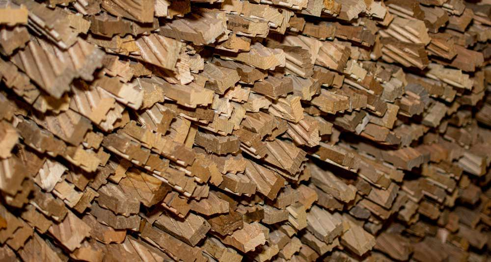 Speciality wood stickers to allow air flow for proper drying