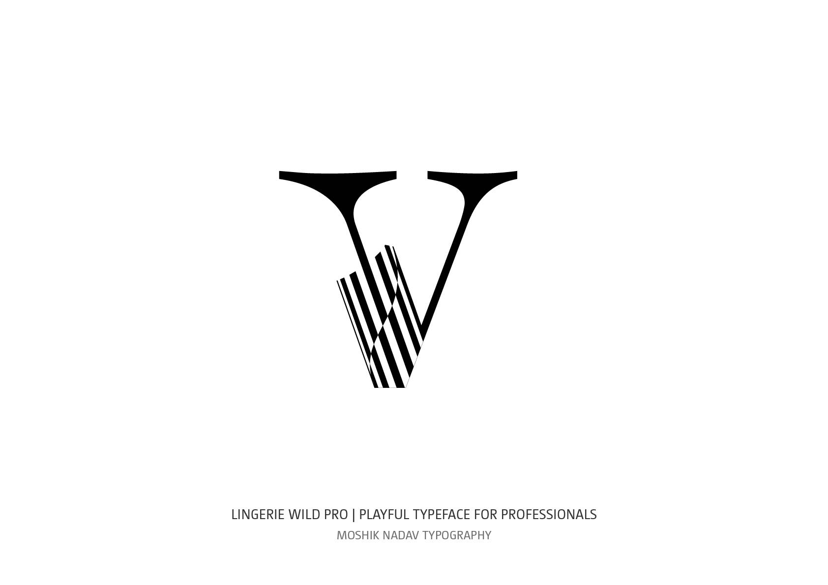 Lingerie Wild Pro Typeface lowercase v designed by Moshik Nadav Typography NYC design studio