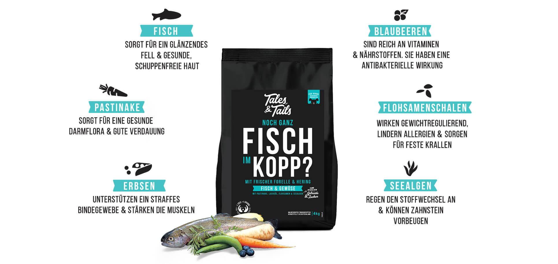 Softes Trockenfutter mit Fisch für Hunde - gesunde Inhaltsstoffe