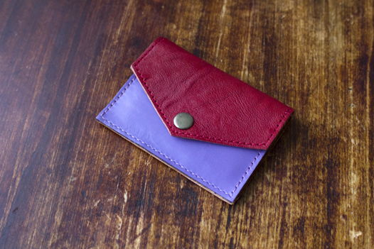 """Красный кошелек для мелочи, банкнот и пластиковых карт """"Марсель"""""""