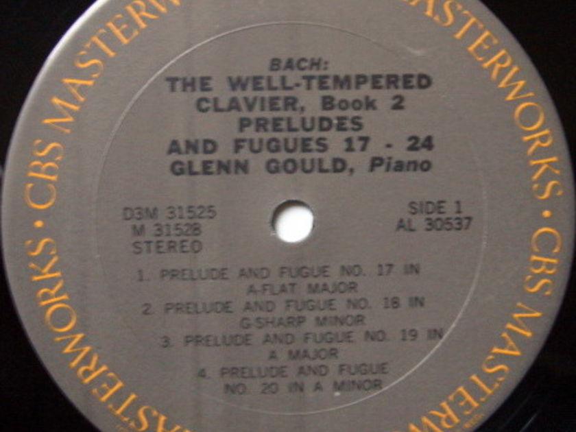 Columbia / GLENN GOULD, - Bach Well-Tempered Clavier Book 2, MINT, 3LP Box Set!
