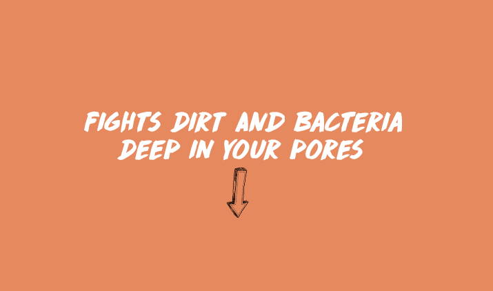 fights dirt and bacteria deep in your pores