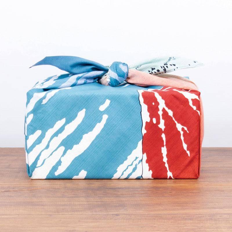 Furoshiki gift box wrapping