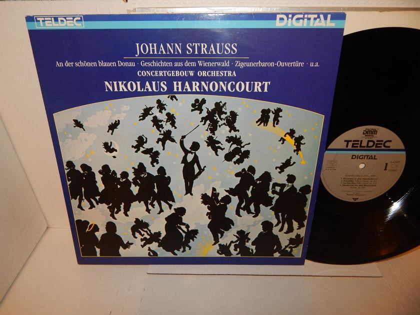 JOHANN STRAUSS Nikolaus Harnoncourt  - Concertgebouw Orchestra Amsterdam German Teldec Audiophile NM LP
