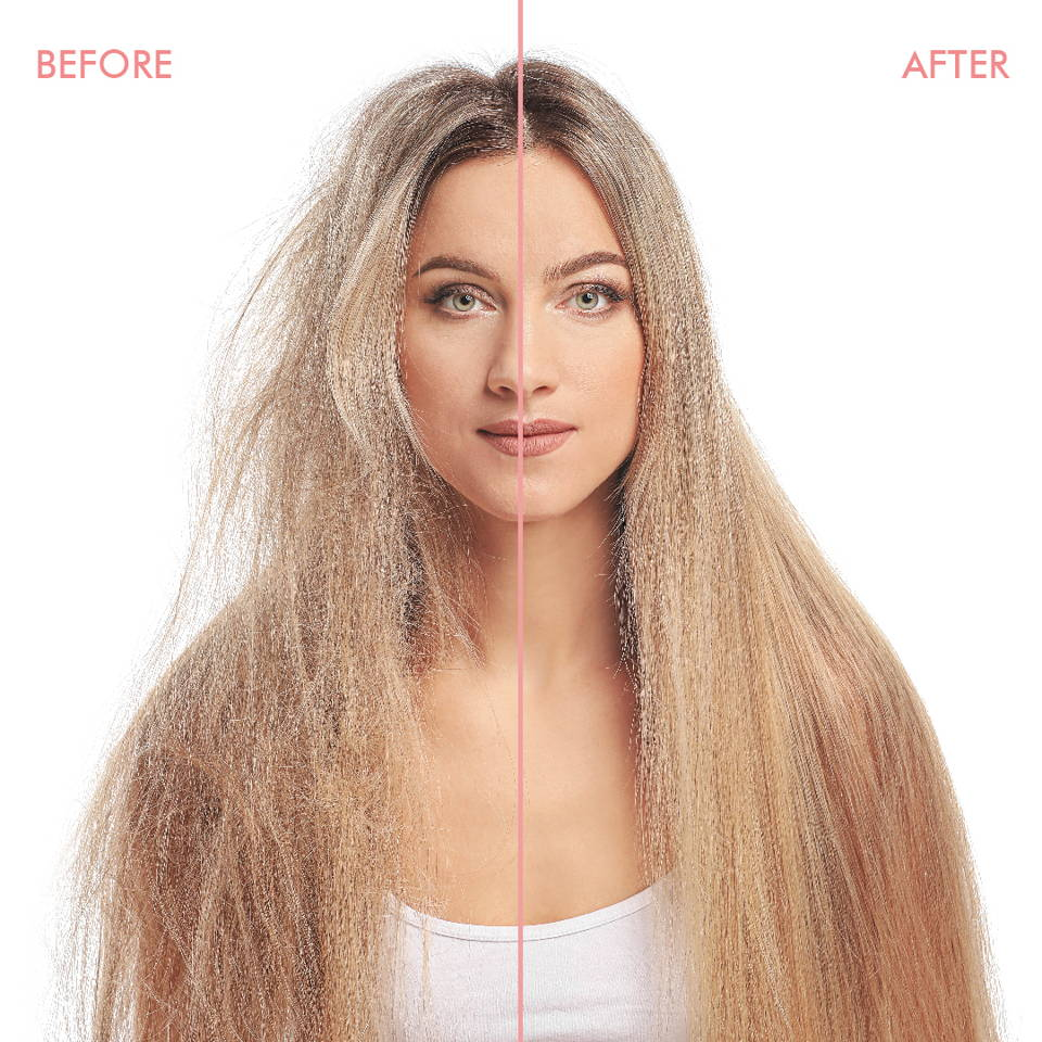 before and after Silk'e shampoo