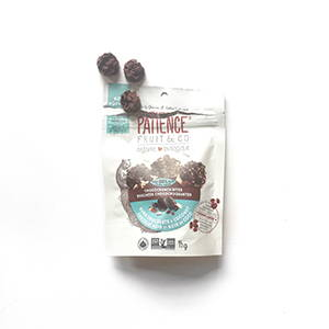 Patience fruits & co bouchees chococroquantes chocolat noir canneberges noix de coco