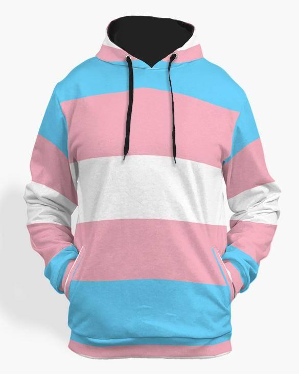transexual flag hoodie