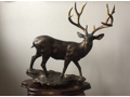 """Early Snow"" by Scott Leonard Mule Deer Bronze Sculpture"
