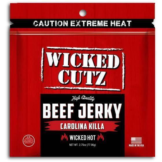 Wicked Cutz Beef Jerky Carolina Killa Spicy