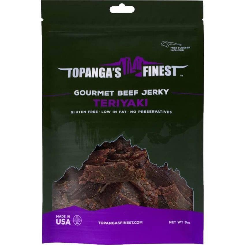 Topanga's Finest Teriyaki Beef Jerky JerkyGent