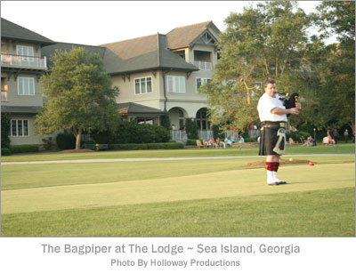 The Bagpiper at the Lodge - Sea Island, Georgia