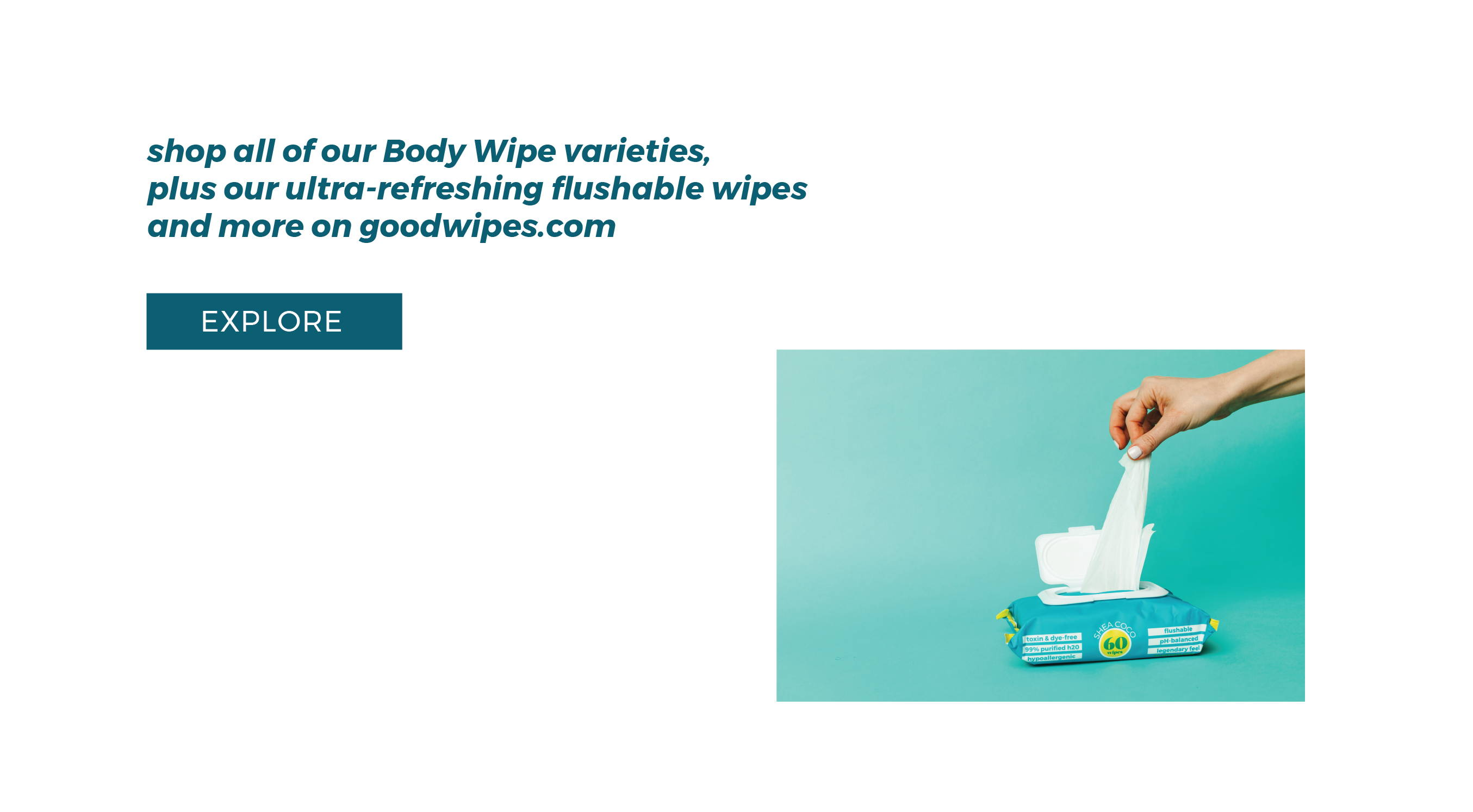 Goodwipes shop our other products on goodwipes.com