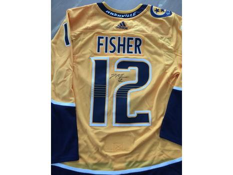 Mike Fisher Autographed Nashville Predators Hockey Jersey