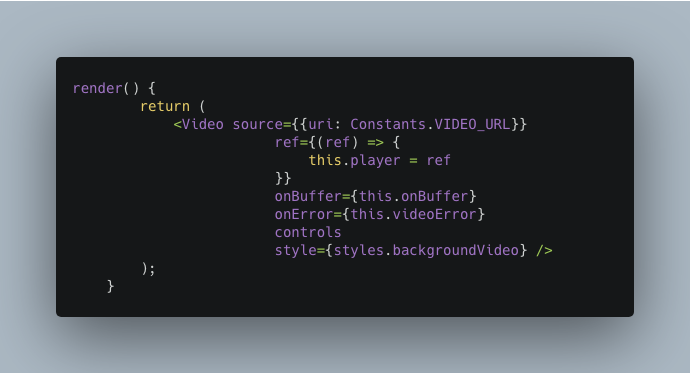 Calling Video Component from react-native-video