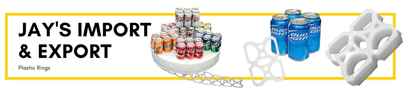 Jays Import & Export Plastic Six Pack Can Rings
