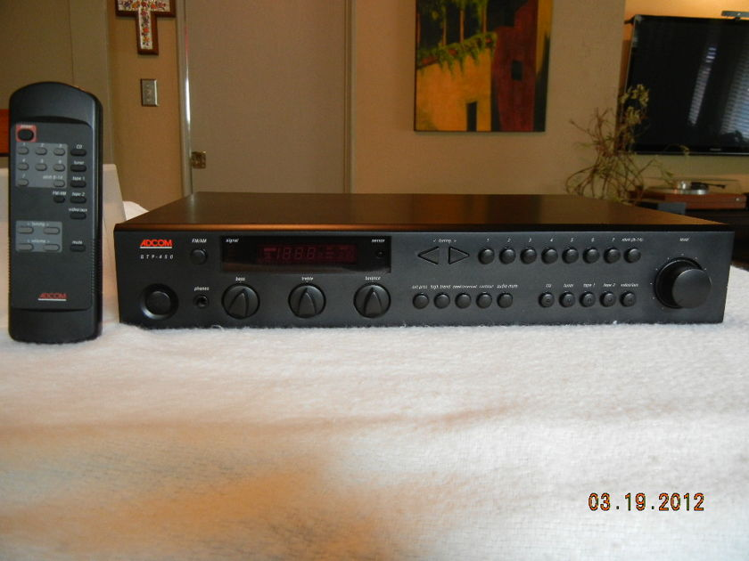 Adcom  GTP 450 Tuner - Preamp w/ Remote Excellent Condition!